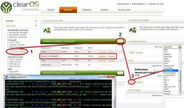 WebConfig InComingPort COS